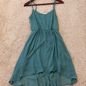 Teal hi-lo dress by Lush